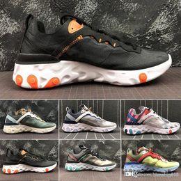 $enCountryForm.capitalKeyWord NZ - 2019 Total Orange AIR React Element Running Shoes For Women men Dark Grey Blue Chill Trainer Sail Green Mist Sports Sneakers 36-45