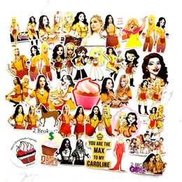 broken tvs Australia - 50pcs TV Series 2 Broke Girls Cartoon Stickers For Lage Car Laptop Notebook Decal Fridge Toy Skateboard Sticker