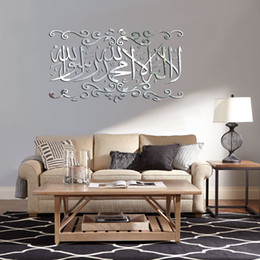 $enCountryForm.capitalKeyWord NZ - Decorate Home 3D Arabic letter mirror art wall sticker decoration Decals mural painting Removable Decor Wallpaper G-199