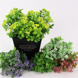 Wholesale Artificial Milan Fruit Plants Plastic Milan Grass Plant Wedding Party New Year Home Decoration Accessories Fake Flower