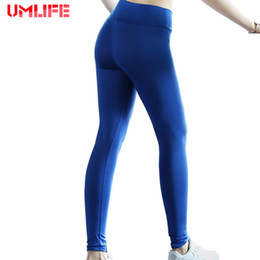 hip yoga clothes Australia - UMLIFE Hot Sale Women Ladies Black Blue Yoga Pants Sexy Hips Push Up Leggings Breathable Running Tights Sports Women Clothes