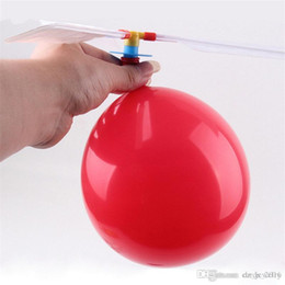$enCountryForm.capitalKeyWord Australia - 50pcs flying Balloon Helicopter DIY balloon airplane Toy children Toy self-combined Balloon Helicopter free shipping