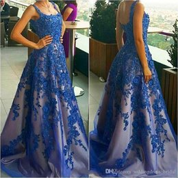 Wholesale Party Dresses Vestido De Festa Longo Para Casamento Royal Blue Prom Dress Cheap Long Evening Dresses Made in China