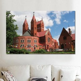 $enCountryForm.capitalKeyWord Australia - minsk church car summer HD Canvas Print Home decoration Art painting