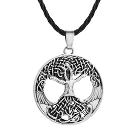Tree knoTs online shopping - Fashion Colors Antique Gold Antique Silver Plated Vikings Knot Amulet Tree Of Life Pendant Necklace Jewelry Necklace