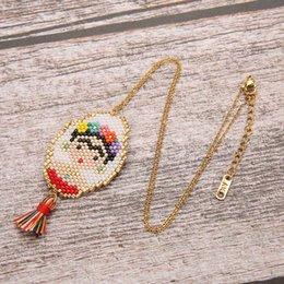 $enCountryForm.capitalKeyWord Australia - SHINUSBOHO MIYUKI Mexico Women Necklace Egyptian Queen Pendant Jewelry Choker Female Hand Gold Chain Loom Bead Necklace Male