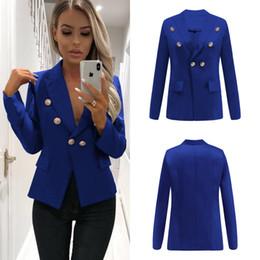Vêtements de travail Vêtements de travail Feminino Cardigan Bureau Blazers Nouveau Mode Femmes Blazers Boutons OL Business Suits Outfit Top