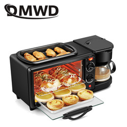 DMWD Household Electric 3 In 1 Breakfast Making Machine Multifunction Mini Drip Coffee Bread Maker Bread Pizza Oven Frying Pan Toaster on Sale