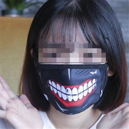 tokyo ghoul masks UK - Tokyo Ghoul Cosplay Mask, Kaneki Ken Halloween Horror Party Masks Winter Anti-Dust Cotton Funny Warm Face Mask 2019032905