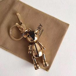 $enCountryForm.capitalKeyWord Australia - Designer fashion accessories bur teddy bear handbag pendant bag and keychain car key accessories full original packaging