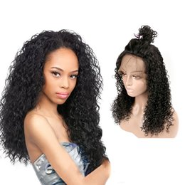 $enCountryForm.capitalKeyWord Australia - Unprocessed new made in China virgin remy human hair long natural color kinky curly full lace cap wig for girl