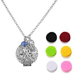 Scent Pendants Australia - Vintage Aromatherapy Essential Perfume Oils Diffuser Necklace Pendant with 6 Scents Color Random