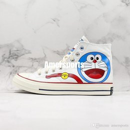 original star canvas shoes NZ - Conversing Taylor STAR Chuck 70 DORAEMON Canvas Shoes Graffiti High Half Size Originals Classic Skateboard Sneakers Womens Mens