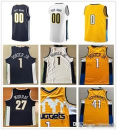 Custom 2019 Basketball Jersey Denver Isaiah Jamal Thomas Murray Paul Gary  Millsap Harris Jarred Malik Vanderbilt Beasley Nuggets Men Jerseys 942e6fa53