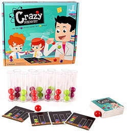 Balls Test Australia - [TOP] Crazy Scientist Test Tube color ball cards Set Logical Thinking Game Board Game family Educational interactive Toy gift
