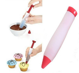 $enCountryForm.capitalKeyWord Australia - Silicone Food Writing Pen Chocolate Decorating Tool Cake Mold Cream Cup Cookie Icing Piping Pastry Nozzles Kitchen Gadget