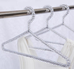 Ladies Clothes NZ - Fashion Acrylic Beads Hanger Women Clothing Skirts Dress Display Lady Clothes Crystal Hangers Free Shipping
