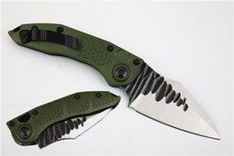 $enCountryForm.capitalKeyWord Australia - Stitch II Flipper Folding M390 Blade EDC Camping Knife Army Green Aluminum Handle Outdoor Tactical Survival Rescue knives P976M Q