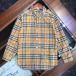 $enCountryForm.capitalKeyWord Canada - Boy shirt kids designer clothing autumn new check shirt shirt curved dress single button cuff design autumn cotton set