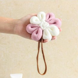 $enCountryForm.capitalKeyWord Australia - Flower Shape Bath Brushes Shower Bath Rub Sponge Twiddle Bathed Clean Brush Exfoliating Quick Drying Foam Scrubber