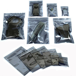 $enCountryForm.capitalKeyWord Australia - 100pcs lot Anti Static Shielding Bag Resealable ESD Pack Bags Waterproof Zipper Lock Self Seal Package Bag for Electronic Devices