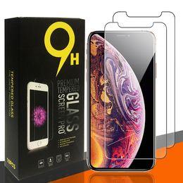 2021 iPhone 13のためのスクリーンプロテクター7 8 + LG Stylo 6フィルム0.33mmのための紙箱と0.33mmのためのスクリーンプロテクター