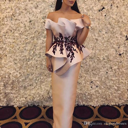 $enCountryForm.capitalKeyWord Australia - 2019 Off Shoulder Lace Appliques Empire Sheath Evening Dresses Modest Customized Special Occasion Party Gowns Cheap Prom Party Gowns