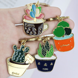 charm tags for dog collars NZ - Stock Show Cute Animal Keychain Dog Collar Charm Id Tags Plants Keyrings For Pet Collar Accessory Car Women Alloy Purse Bag Key Chain Ring