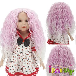 Dolls Accessories Aidolla American Dolls Hair Accessories Long Straight Curly Wigs For Girl Gift High-temperature Wire Wig Can Customized Fine Quality