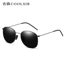 Discount aluminum magnesium sunglasses - Fashion Light Sunglasses Men Polarized Aluminum Magnesium Alloy Gradient Sunglasses Oval Large Frame Driving Sun Glasses