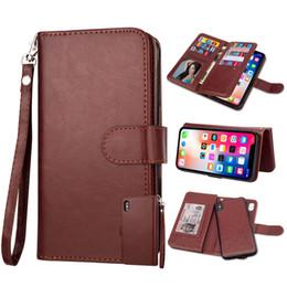 $enCountryForm.capitalKeyWord Australia - Multifunction 9 Card Slot Wallet Leather Detachable Flip Case For iPhone XR XS Max X 8 7 6 5 Samung S6 S7 Edge S8 S9 S10 Plus S10E Note 9