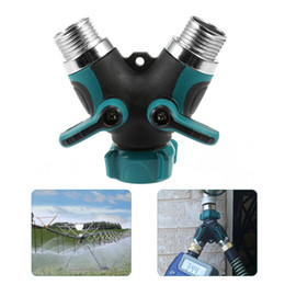 Connector System Australia - Garden Irrigation Y Valve 2 Ways Y-Connector 3 4 inch(US standard) water Tap pipe hose adapter Quick Coupler Drip Irrigation System Tools