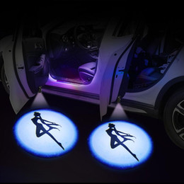 car wireless led shadow UK - BATP 1Pair wireless LED door welcome laser projector logo ghost shadow light can be applied to any car model