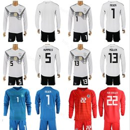 Discount germany world cup jersey - World Cup 2018 Germany Long Sleeve Jersey  Set Soccer 1 885863895