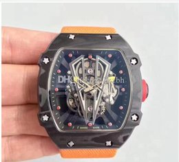 $enCountryForm.capitalKeyWord Australia - luxury watch men carbon fiber case and lather strap automatic hollow out design new arrived men items good price