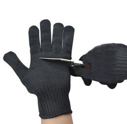 Metal gloves butchers online shopping - 2piece Pair Gloves Proof Protect Stainless Steel Wire Safety Gloves Cut Metal Mesh Butcher Anti cutting breathable Work Gloves