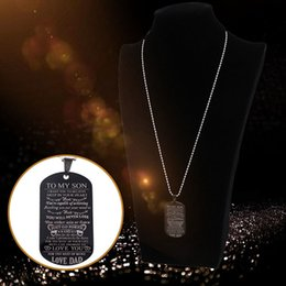 $enCountryForm.capitalKeyWord Australia - New Arrival Dog Tags Pendant Necklace Family Jewelry To My Son Daughter We Love You Love Dad Mom Necklace Military Army Cards Necklace
