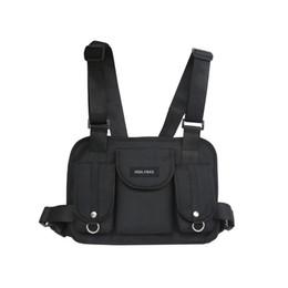 TacTical shoulder bags online shopping - 2019 fashion chest rig waist bag hip hop streetwear functional tactical chest bag cross shoulder bags bolso Kanye West