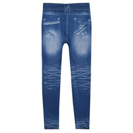 schlanke hohe taille jeans großhandel-Damen Jeans Skinny Ripped Pants Hohe Taille Stretch Jeans Schlanke Bleistifthose