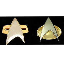 Badge Accessories Australia - alloy metal Star Trek Badge Pin The Next Generation Voyager Communicator Metal Alloy With Gift Box New Cosplay Insignia Party Halloween Prop