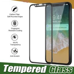 best iphone screen protectors NZ - Best Fiber Soft Edge Full Cover Tempered Glass For iPhone XS Max XR X 8 7 6 6S Plus Screen Protector Film Case Toughened Glass