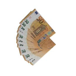 Video props online shopping - 100pcs set Prop Copy Fake Money Kids Learning Tool Toys for Films Video Euro movie money play money Decompression Toy
