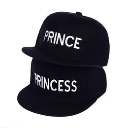 2dfbf43e Hot Sale PRINCE PRINCESS Embroidery men women Snapback Hat Couple Baseball  Cap friend Gifts For Fashion Hip-hop Caps