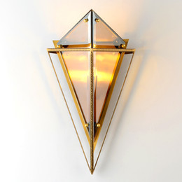 headboard lights Australia - Creative luxury wall light triangle wall lamps for the bedroom bedside lamp headboard modern light fixture lamp on the wall