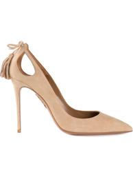 $enCountryForm.capitalKeyWord UK - 2018 New Fashion American Pointed toe Tassel Stiletto Heeled Fringe Party Pumps Women Customized Office Lady Shoes Big Size Free Shipping