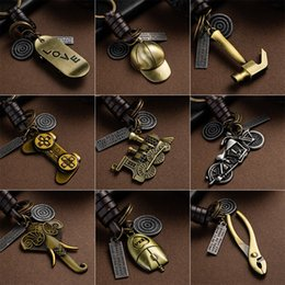 Discount key guitars - Multiple Guitar Elephant Pendant Suspension Leather Keychain Key Chain Fashion for Keys Car Keys Accessories Keychain on