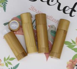 $enCountryForm.capitalKeyWord NZ - wholesael hot 100pcs empty big gross container lipstick bamboo tube DIY cosmetic containers, bamboo lipstick tubes