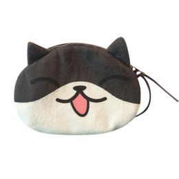 Dog Zipper Australia - New Cute Style Novelty 3D Animals Cat & Dog Zipper Plush Coin Purse Kawaii Children Coin Purse Women Wallet Mini Handbag