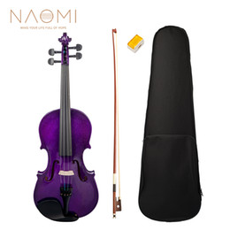 NAOMI Acoustic Violin 4 4 Full Size Violin Fiddle Solid Wood Violin For Students Beginners High Quality New on Sale