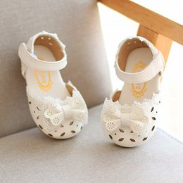 Elegant Flower Girl Shoes Australia - Toddler Infant Kids Baby Girls Elegant Bowknot Flower Princess Shoes Sandals For Girls Summer Shoes Kids Bow Sandal 2019